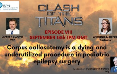 Corpus callosotomy is the topic of our next Clash of the Titans – Register today!